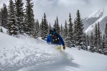 Sean Sewell enjoying some powder